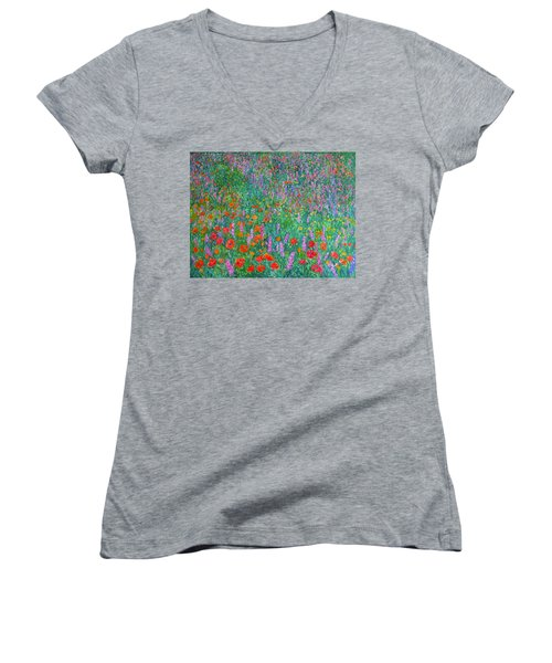 Wildflower Current Women's V-Neck