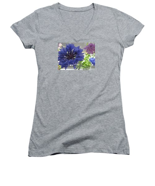 Wildflower Fluff Women's V-Neck (Athletic Fit)
