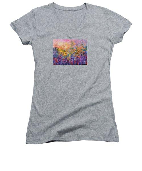 Wildflower II Women's V-Neck T-Shirt