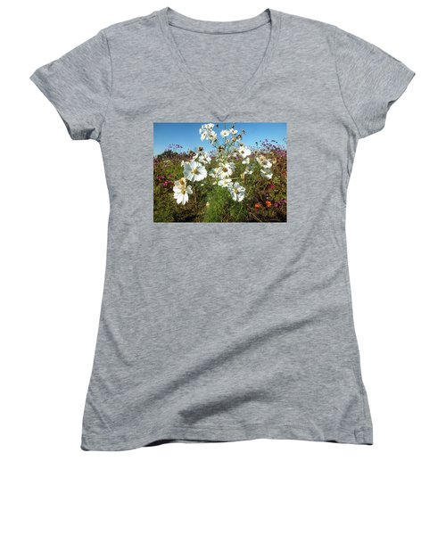 Wildflower Mania Women's V-Neck (Athletic Fit)