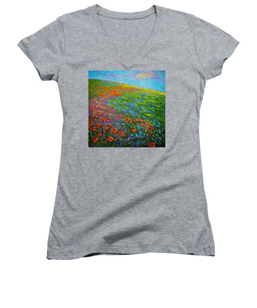 Wildflower Pastoral Women's V-Neck T-Shirt