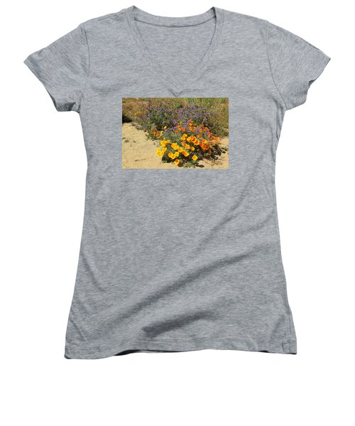 Wildflowers In Spring Women's V-Neck