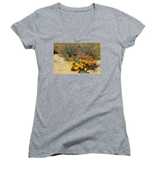 Wildflowers In Spring Women's V-Neck (Athletic Fit)