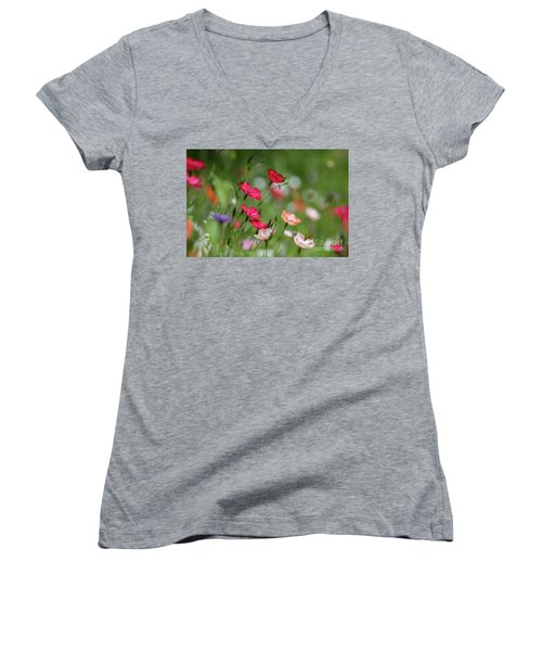 Wildflowers Meadow Women's V-Neck