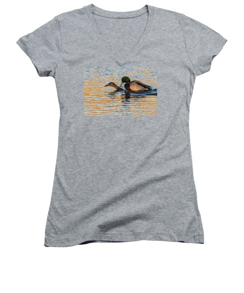Wildlife Love Ducks  Women's V-Neck