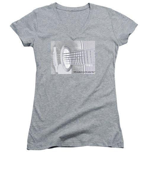 Will You Play For Me Women's V-Neck T-Shirt