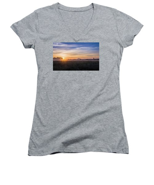 Willamette Valley Sunrise Women's V-Neck