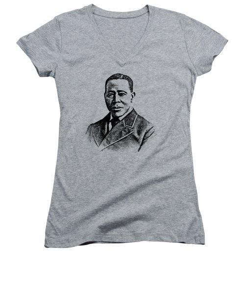 William Still Abolitionist Women's V-Neck T-Shirt (Junior Cut)