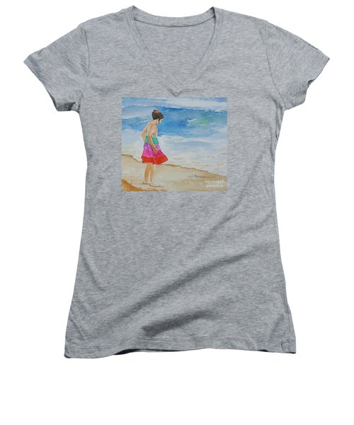 Willow At Rosemary Beach Women's V-Neck (Athletic Fit)