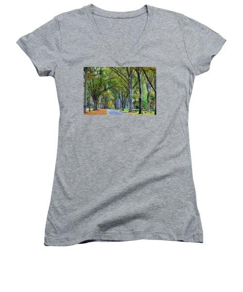 Willow Oak Trees Women's V-Neck