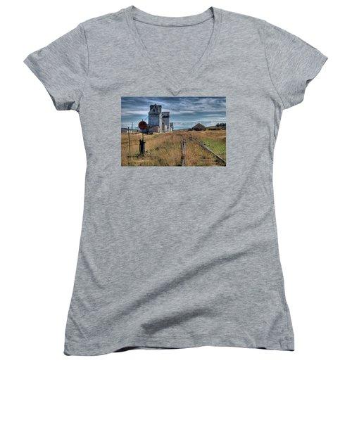 Wilsall Grain Elevators Women's V-Neck T-Shirt