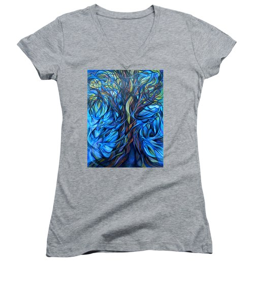 Wind From The Past Women's V-Neck T-Shirt