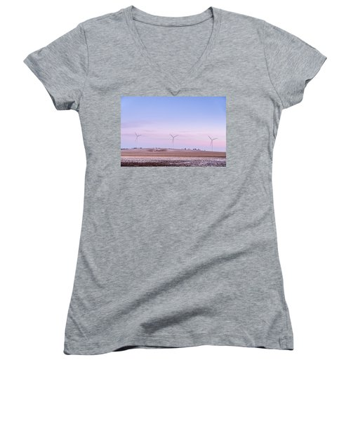 Wind Power Women's V-Neck T-Shirt
