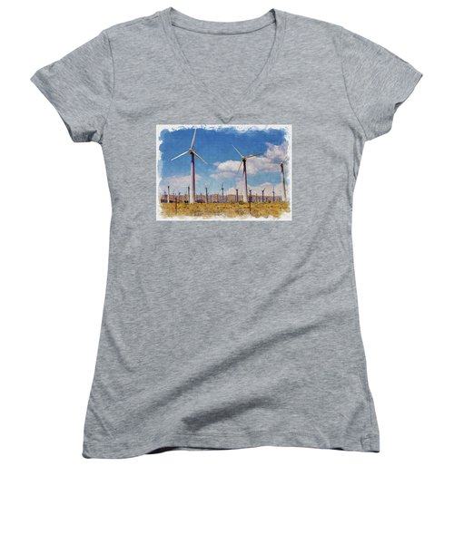 Wind Power Women's V-Neck (Athletic Fit)