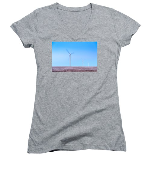 Wind Turbines Women's V-Neck T-Shirt