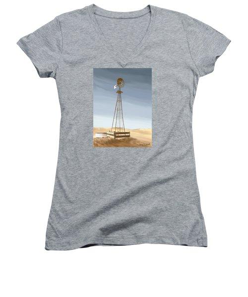 Windmill Women's V-Neck T-Shirt (Junior Cut)