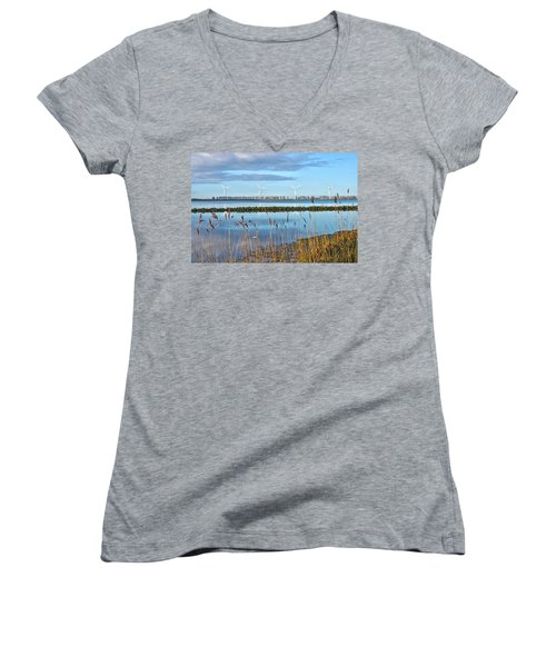 Windmills On A Windless Morning Women's V-Neck T-Shirt