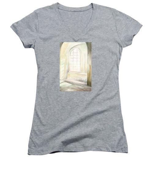 Window Women's V-Neck T-Shirt (Junior Cut) by Darren Cannell