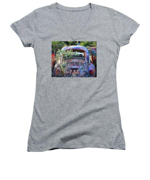 Window Dressing Women's V-Neck T-Shirt (Junior Cut) by Christopher McKenzie