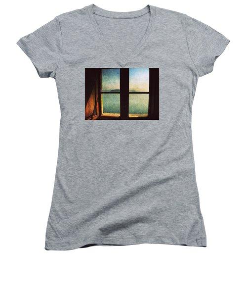 Window Overlooking The Sea Women's V-Neck