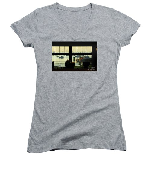 Window Painting Women's V-Neck (Athletic Fit)