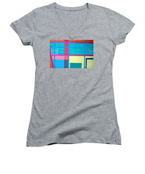 Window Reflections Women's V-Neck T-Shirt