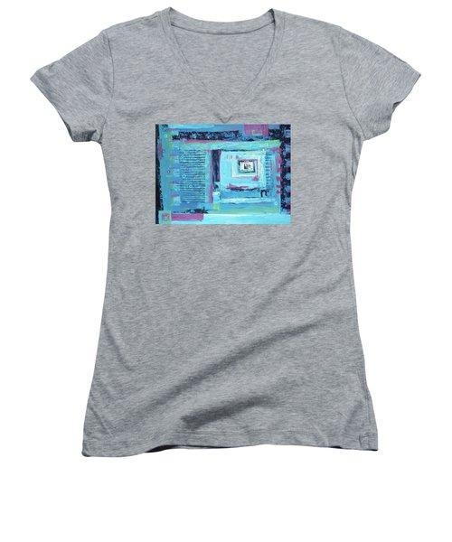 Window Shopping Women's V-Neck T-Shirt