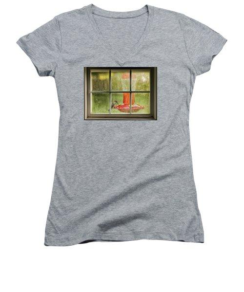 Window Sweet Women's V-Neck T-Shirt (Junior Cut) by Denis Lemay