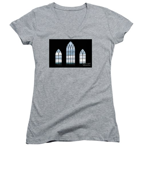 Women's V-Neck T-Shirt (Junior Cut) featuring the photograph Window To God's Country by Brad Allen Fine Art