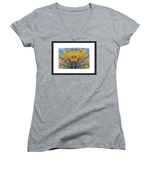 Windows Of The Soul Women's V-Neck T-Shirt (Junior Cut) by Beto Machado