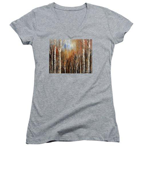 Winds Of Autumn Women's V-Neck T-Shirt