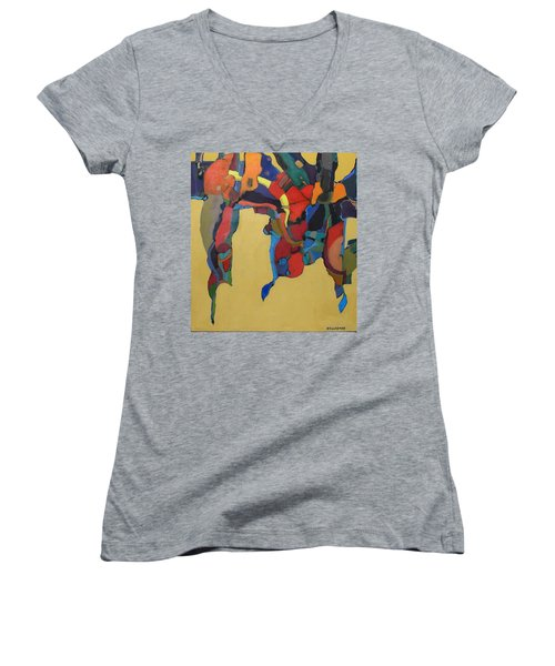 Windsong Women's V-Neck T-Shirt (Junior Cut) by Bernard Goodman