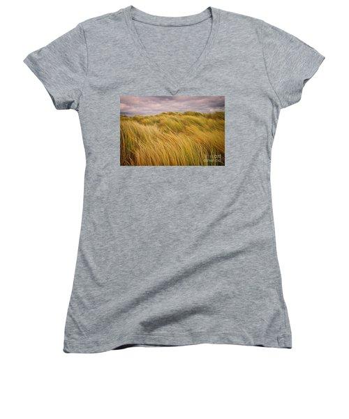 windswept Grasses Women's V-Neck