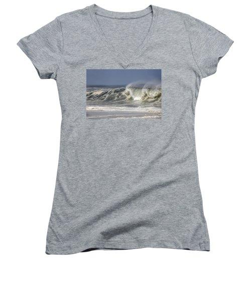 Windswept Women's V-Neck T-Shirt (Junior Cut) by Mark Alder