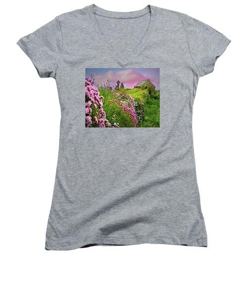 Windswept Memories Women's V-Neck T-Shirt