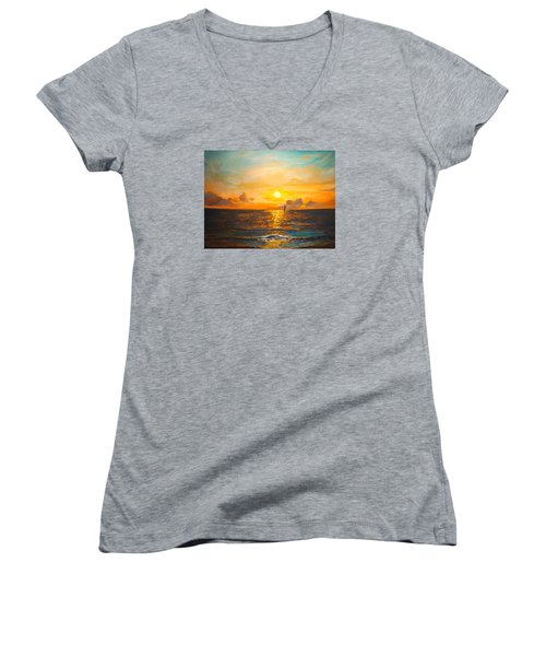 Windward Women's V-Neck T-Shirt (Junior Cut) by Alan Lakin