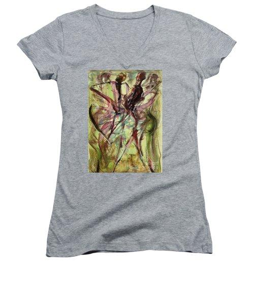 Windy Day Women's V-Neck T-Shirt