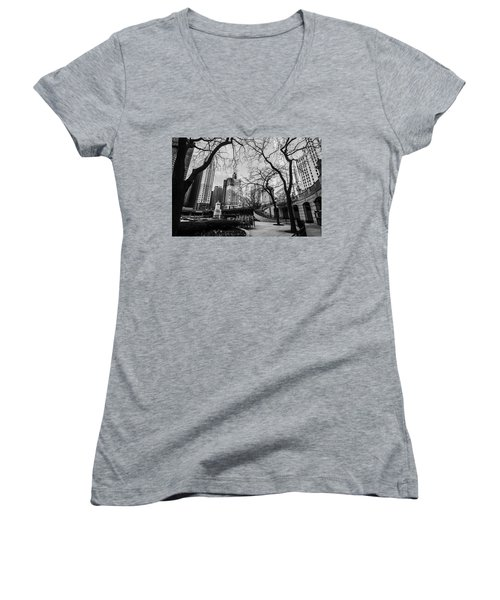 Windy Mornings In The Chi  Women's V-Neck (Athletic Fit)