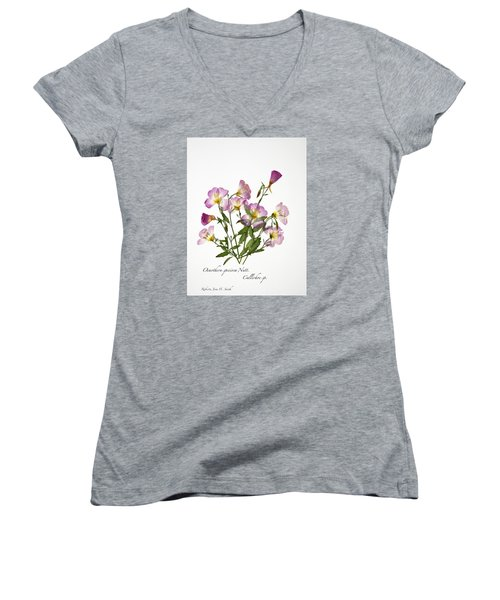 Wine-cup And Primrose Women's V-Neck T-Shirt