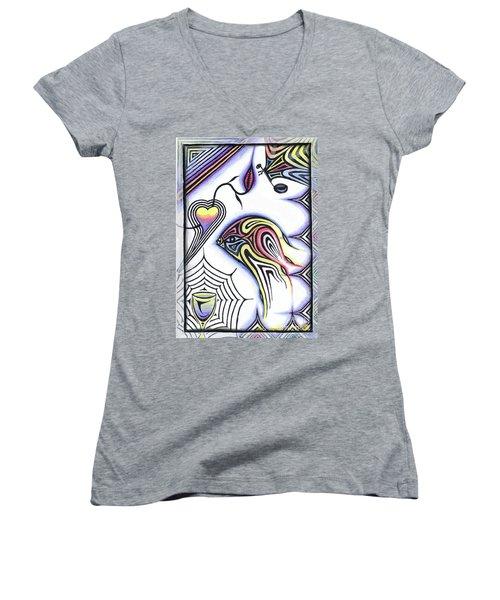 Wine Glass Fish Women's V-Neck T-Shirt