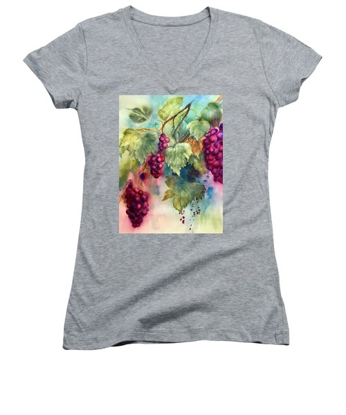 Wine Grapes Women's V-Neck