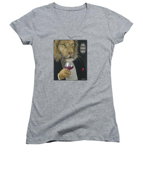 Wine King... Women's V-Neck T-Shirt