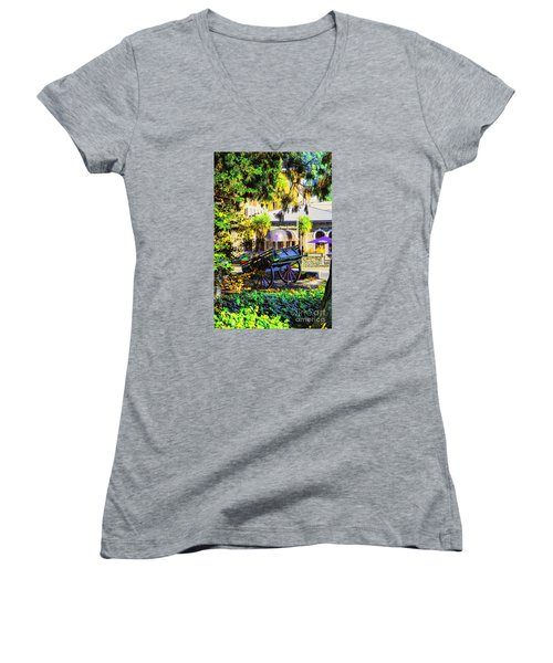 Wine Wagon Women's V-Neck (Athletic Fit)