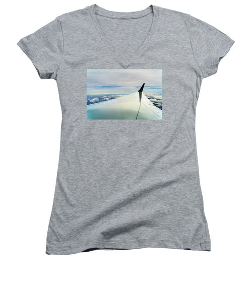 Wing And Clouds Women's V-Neck