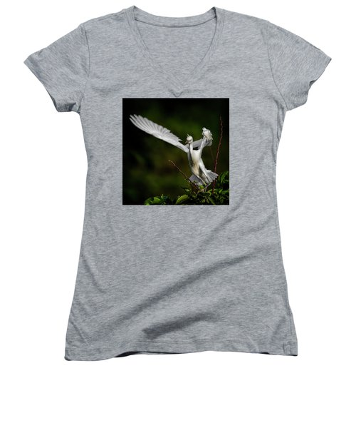 Winged Women's V-Neck (Athletic Fit)