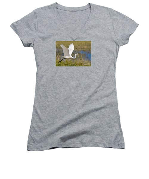 Wings Women's V-Neck T-Shirt (Junior Cut) by Judy Kay
