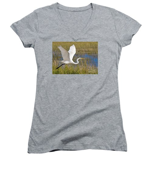 Wings Women's V-Neck (Athletic Fit)