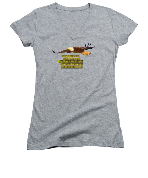 Wings Of Eagles Women's V-Neck T-Shirt