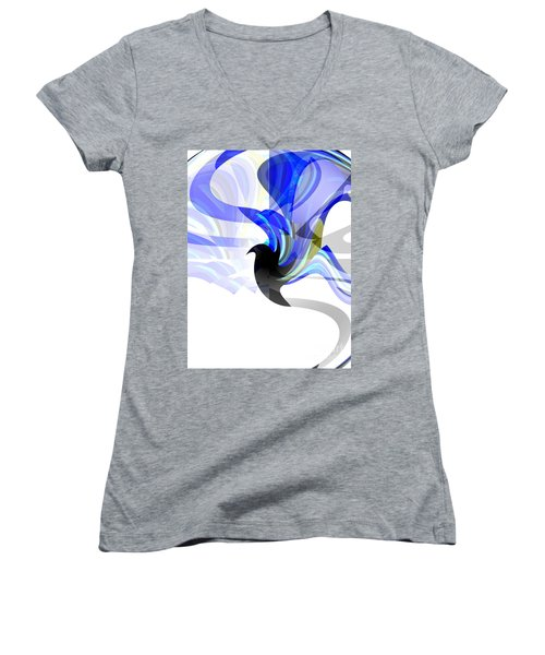 Wings Of Freedom Women's V-Neck T-Shirt (Junior Cut) by Thibault Toussaint