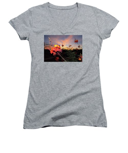 Wings Of Paradise Women's V-Neck T-Shirt (Junior Cut) by Kimo Fernandez